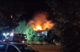 Pożar domu przy ul. Strzeszyńskiej